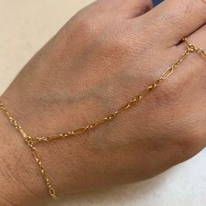 Other - 14/20 real gold bracelet with attached ring design